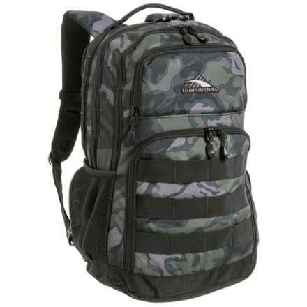 High Sierra Rownan Backpack in Camo/Black - Closeouts