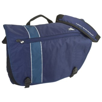 High Sierra Rufus Laptop Messenger Bag in Blue Velvet/Pacific