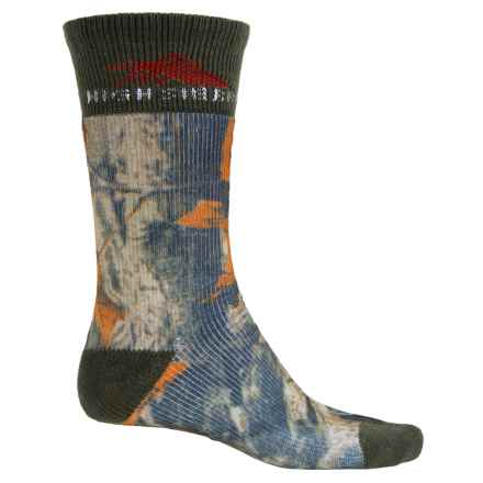 High Sierra Rugged Hiking Socks - Mid Calf (For Men) in Mossy Oak/Pine Green - Closeouts
