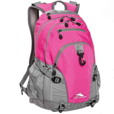 High Sierra Sierra Loop Backpack in Flamingo/Charcoal - Closeouts