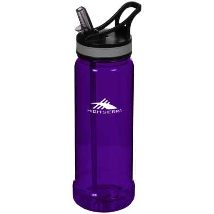 High Sierra Single Walled Tritan® Water Bottle - 22 oz. in Purple - Closeouts