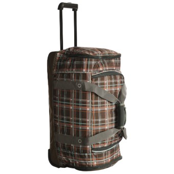 "High Sierra Snow Sport Cargo Duffel Bag - Wheeled, 28"" in Mountain Plaid/Espresso"