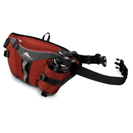 High Sierra Solo Lumbar Pack with Bottle in Black/Black