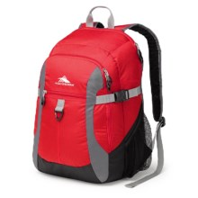 High Sierra Sportour Laptop Backpack - 33L in Red/Mercury/Black - Closeouts