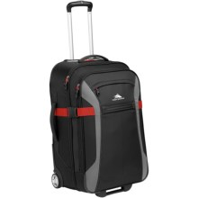 "High Sierra Sportour Rolling Upright Suitcase - 25"" in Black/Charcoal/Crimson - Closeouts"