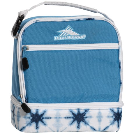 High Sierra Stacked Compartment Lunch Bag in Mineral/Indigo Dye/White