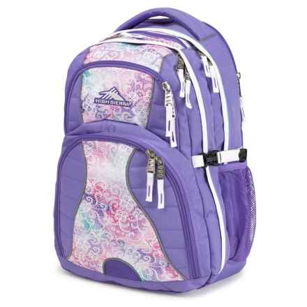 High Sierra Swerve Backpack in Delicate Lace/Lavender/White - Closeouts