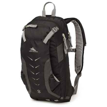 High Sierra Symmetry 18 Ski Backpack in Black/Mercury/Charcoal - Closeouts