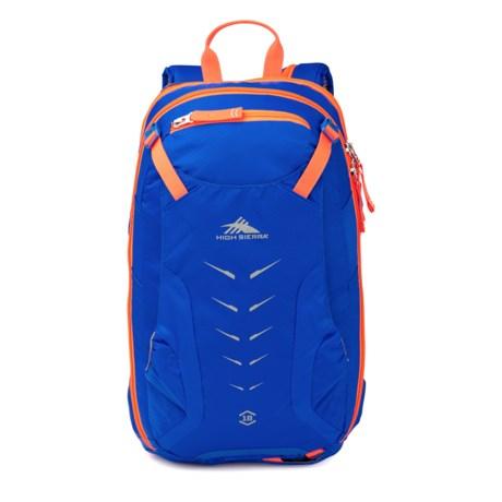 High Sierra Symmetry 18 Ski Backpack in Vivid Blue/Electric Orange