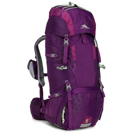 High Sierra Tech 2 Hawk 45 Backpack (For Women) in Eggplant/Berry Blast/Lime - Closeouts
