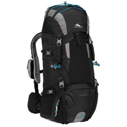 High Sierra Tech 2 Hawk 45 Backpack - Internal Frame in Black/Charcoal/Pool - Closeouts