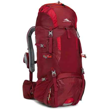 High Sierra Tech 2 Hawk 45 Backpack - Internal Frame in Brick Red/Carmine/Red Line - Closeouts