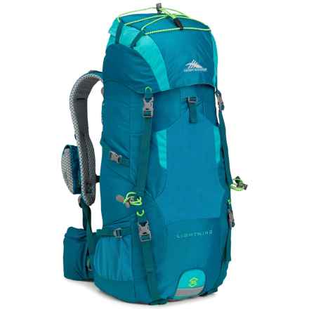 High Sierra Tech 2 Lightning 35 Backpack - Internal Frame (For Women) in Sea/Tropic Teal/Zest - Closeouts