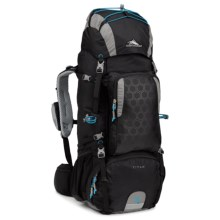 High Sierra Tech 2 Titan 55 Backpack - Internal Frame in Black/Charcoal/Pool - Closeouts