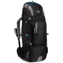 High Sierra Tech 2 Titan 65 Backpack - Internal Frame in Black/Charcoal/Pool - Closeouts