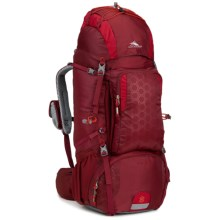 High Sierra Tech 2 Titan 65 Backpack - Internal Frame in Brick Red/Carmine/Red Line - Closeouts