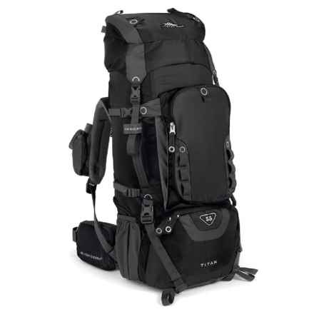 High Sierra Titan 55L Backpack in Black/Black/Charcoal - Closeouts
