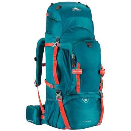 High Sierra Titan 65L Frame Backpack in Lagoon/Redline - Closeouts