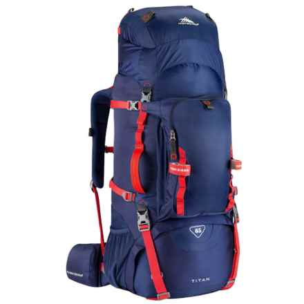 High Sierra Titan 65L Frame Backpack in True Navy/Crimson - Closeouts