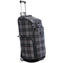 High Sierra Trapezoid Rolling Duffel Bag in Green Grey/Plaid/Black - Closeouts