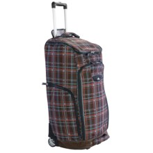 High Sierra Trapezoid Rolling Duffel Bag in Mountain Plaid/Espresso - Closeouts