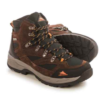 High Sierra Trekker Hiking Boots - Waterproof (For Men) in Brown/Black - Closeouts