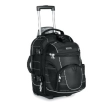 High Sierra Ultimate Access Rolling Carry-On Backpack in Black - Closeouts