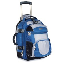 High Sierra Ultimate Access Rolling Carry-On Backpack in Blue Yonder/Tungsten/Black - Closeouts