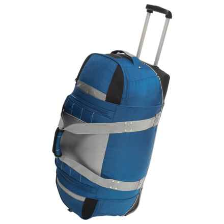 "High Sierra Ultimate Access Wheeled Duffel Bag - 30"" in Blue Yonder/Tungsten/Black - Closeouts"