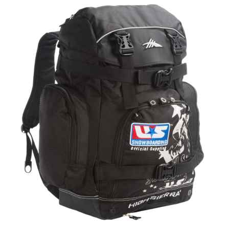 High Sierra U.S. Snowboard Team Boot Backpack in Black - Closeouts