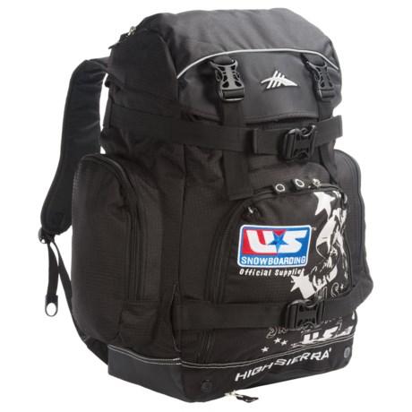 High Sierra U.S. Snowboard Team Boot Backpack in Black