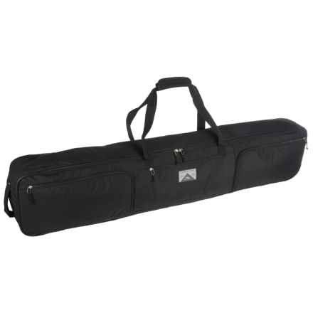 High Sierra Wheeled Double Ski/Snowboard Combo Bag in Black - Closeouts