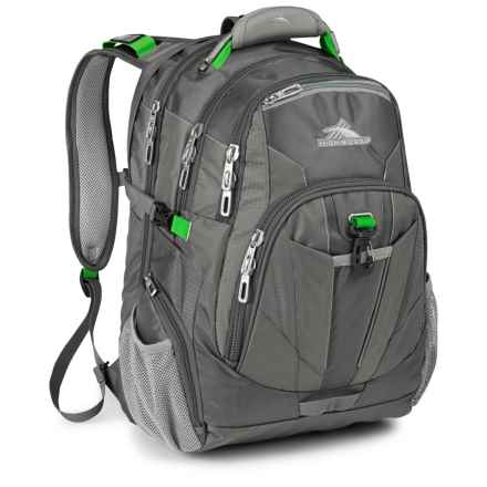 High Sierra XBT TSA Backpack in Charcoal/Silver/Kelly - Closeouts