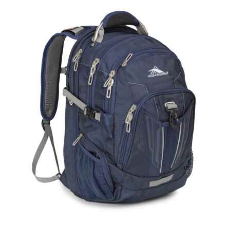 High Sierra XBT TSA Backpack in True Navy/Charcoal - Closeouts