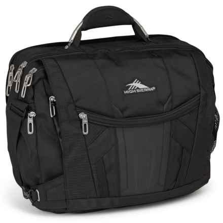 High Sierra XBT TSA Messenger Bag in Black - Closeouts