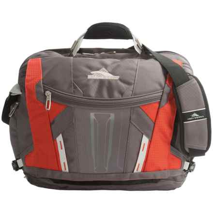 High Sierra XBT TSA Messenger Bag in Charcoal/Lava/Silver/Black - Closeouts