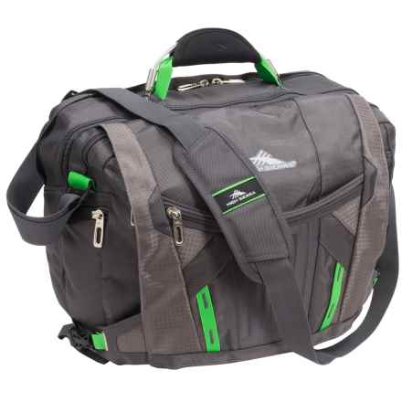 High Sierra XBT TSA Messenger Bag in Mercury/Charcoal/Kelly - Closeouts