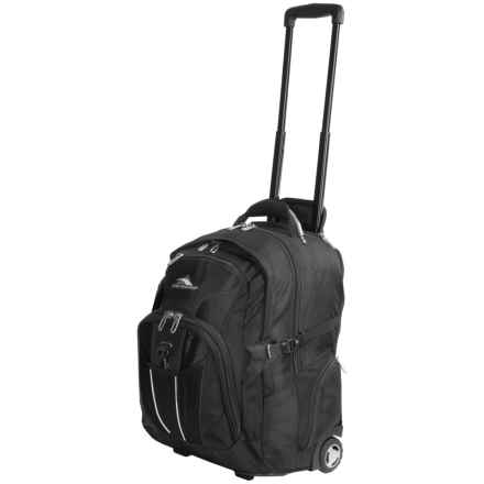 High Sierra XBT Wheeled Laptop Backpack in Black - Closeouts