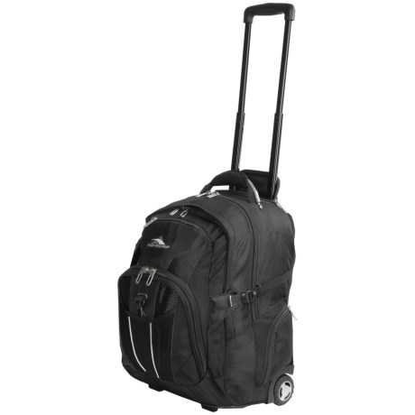 High Sierra XBT Wheeled Laptop Backpack in Black