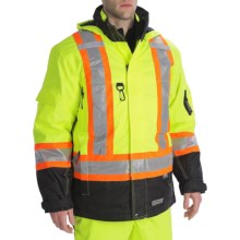 High Visibility 7-in-1 Parka - Insulated (For Men) in Fluorescent Lime - 2nds