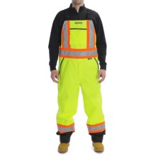 High Visibility Bib Pants with Removable Insulated Liner (For Men) in Fluorescent Lime - 2nds
