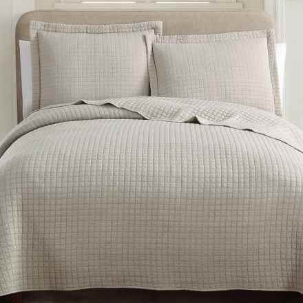 Hill & Holmes Stonewashed Quilt Set - King in Fog - Overstock