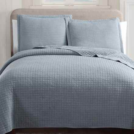 Hill & Holmes Stonewashed Quilt Set - Queen in Slate - Overstock