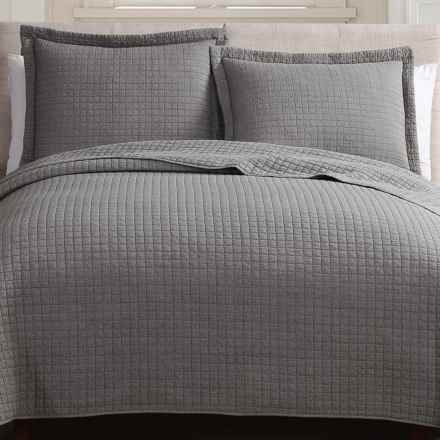Hill & Holmes Stonewashed Quilt Set - Queen in Smoke - Overstock