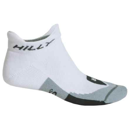 Hilly Cushion Tab Socks - Ankle (For Men and Women) in White/Black/Grey - 2nds