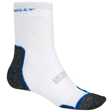 Hilly Supreme Multi-Sport Socks - Ankle (For Men and Women) in White/Charcoal/Royal Blue - 2nds