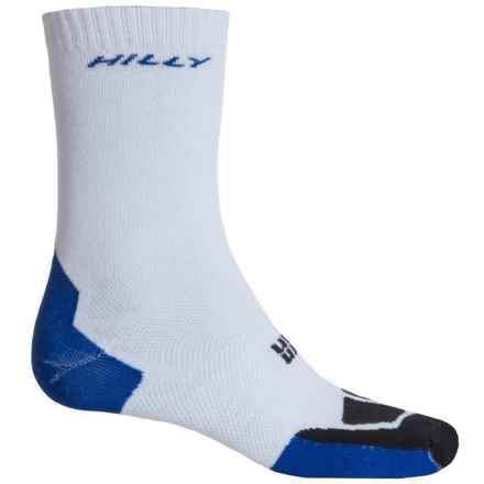 Hilly Twin Skin Classic Socks - 3/4 Crew (For Men and Women) in White/El Blue/Black - 2nds