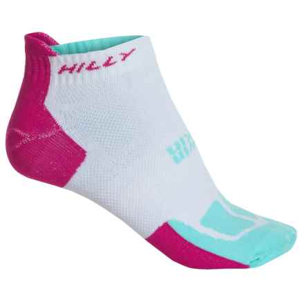 Hilly Twin Skin Tab Socks - Ankle (For Women) in White Flourescent Pink/Aquamarine - 2nds