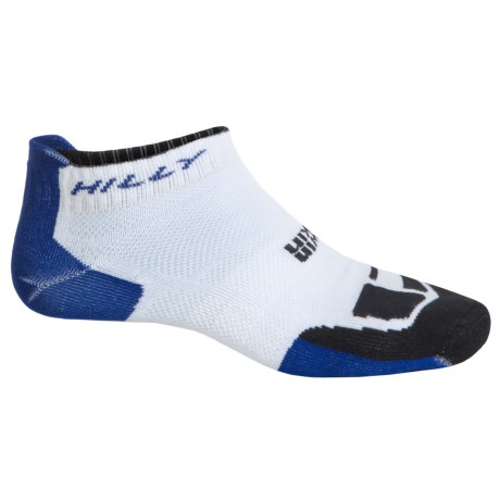 Hilly TwinSkin Socklet Socks - Below the Ankle (For Men and Women) in White/El Blue/Black