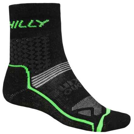 Hilly XStatic Trail Socks - Ankle (For Men and Women) in Black/Grey/Neon Green - 2nds